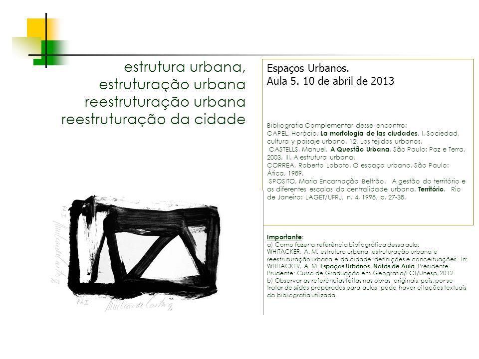 estrutura urbana, estruturação urbana