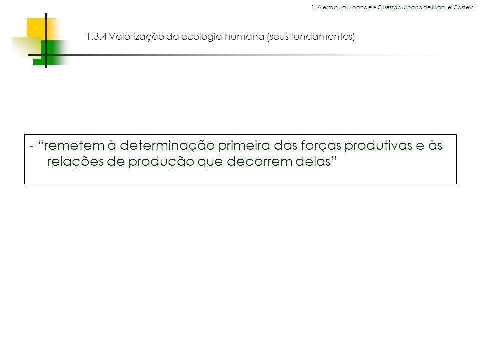 1.3.4 Valorização da ecologia humana (seus fundamentos)