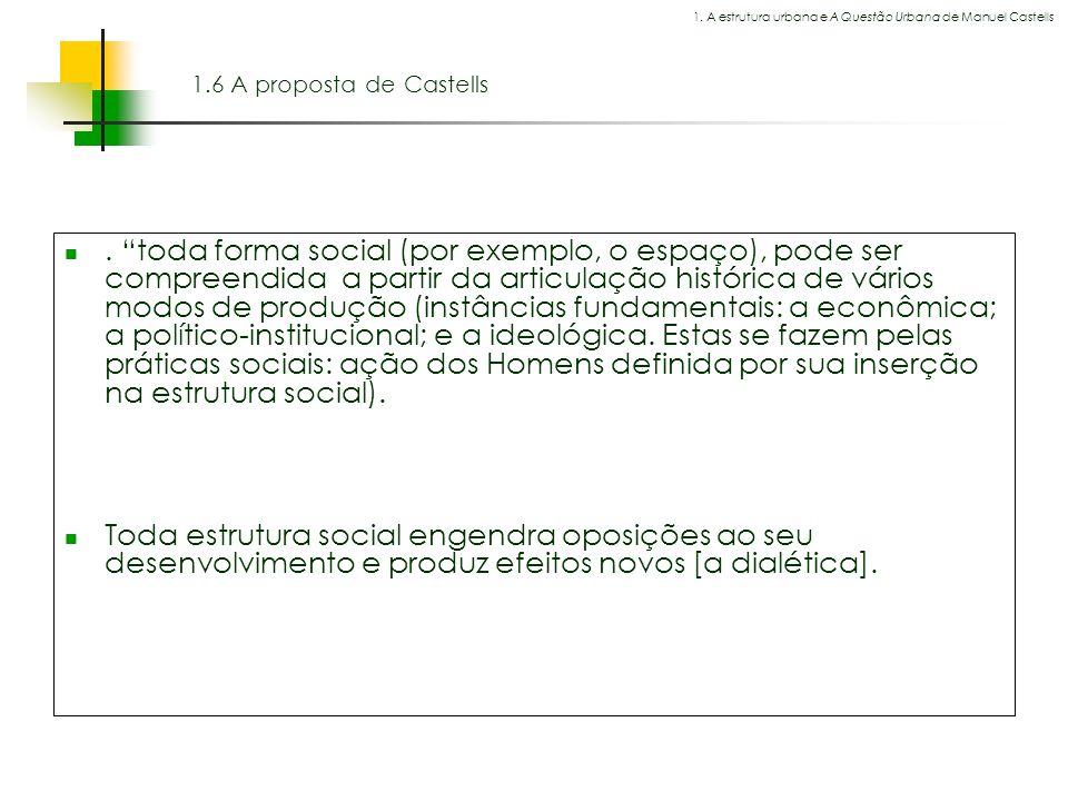 1. A estrutura urbana e A Questão Urbana de Manuel Castells