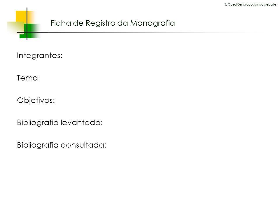 Ficha de Registro da Monografia