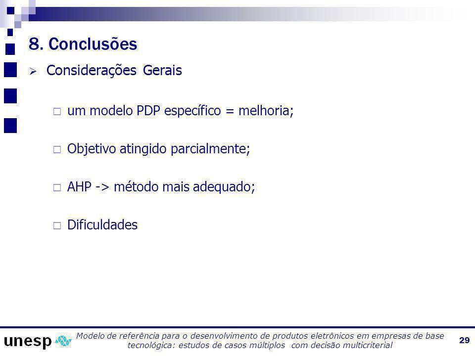 8. Conclusões Considerações Gerais
