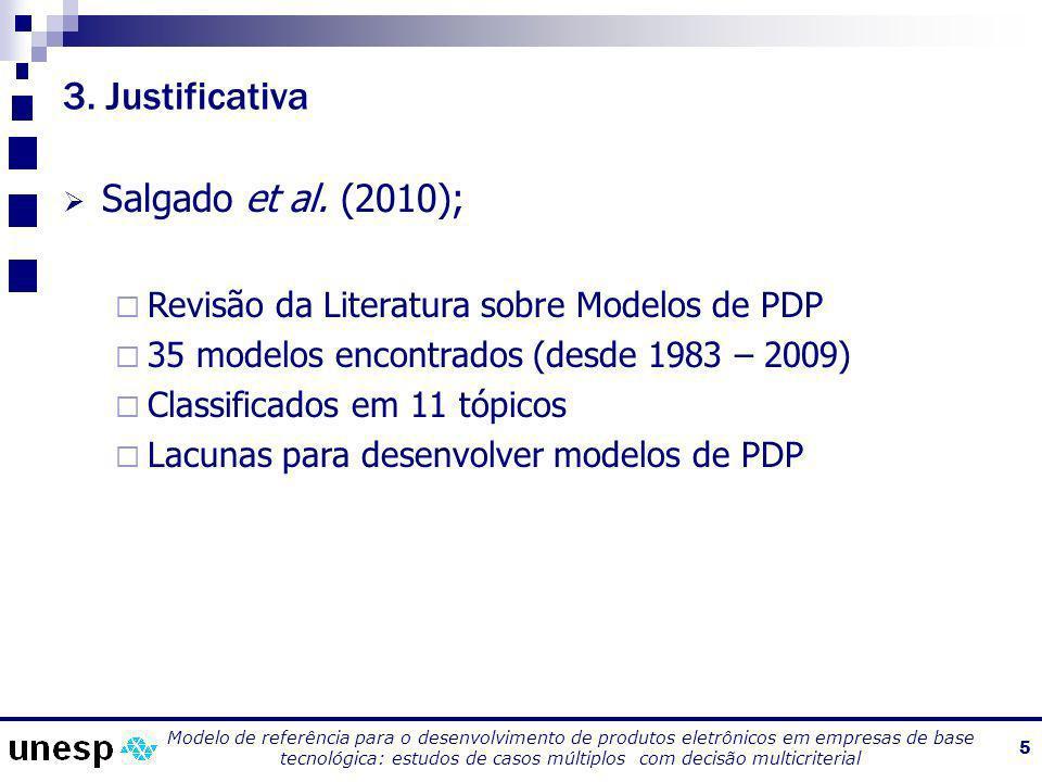 3. Justificativa Salgado et al. (2010);