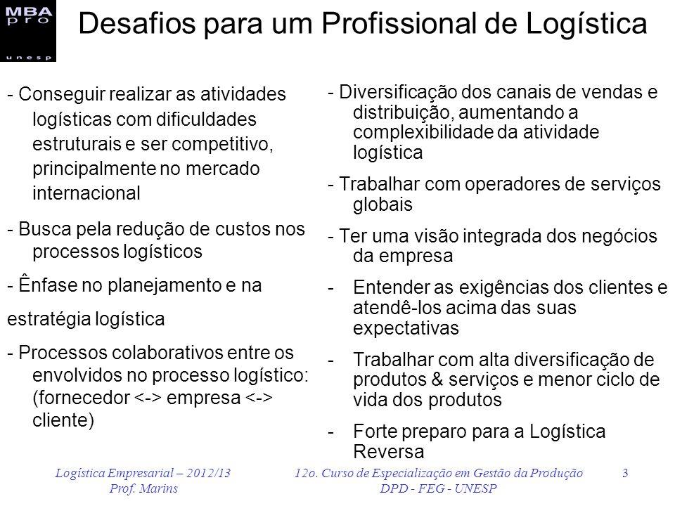 Desafios para um Profissional de Logística