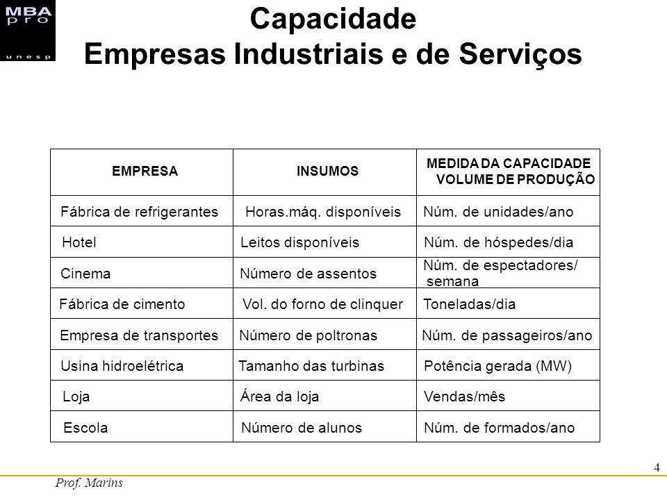 Empresas Industriais e de Serviços