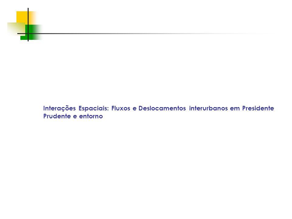 Interações Espaciais: Fluxos e Deslocamentos interurbanos em Presidente Prudente e entorno