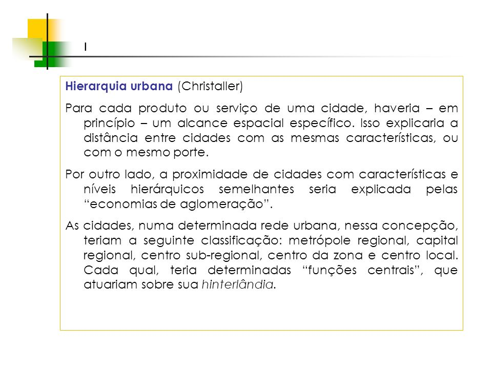 Hierarquia urbana (Christaller)