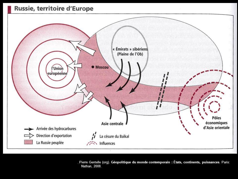 . Pierre Gentelle (org). Géopolitique du monde contemporain : États, continents, puissances. Paris: