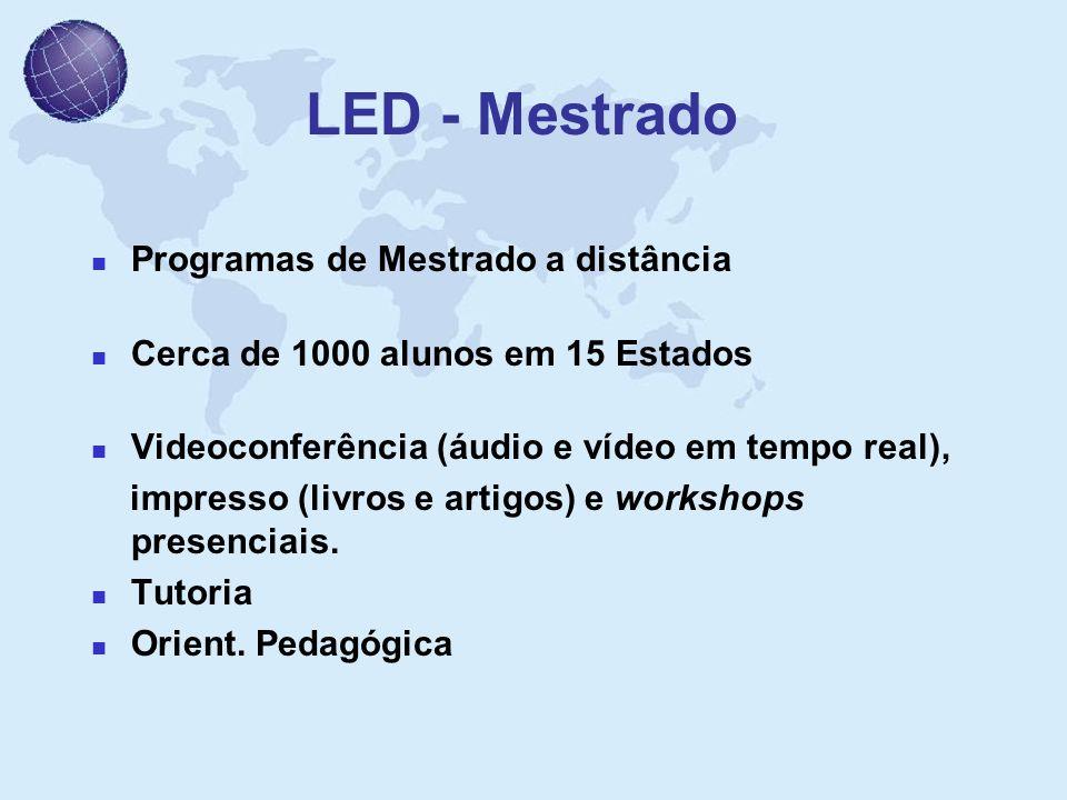 LED - Mestrado Programas de Mestrado a distância