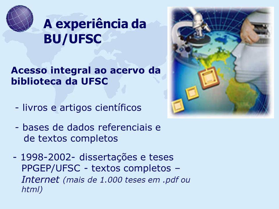 A experiência da BU/UFSC