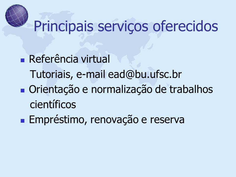Principais serviços oferecidos