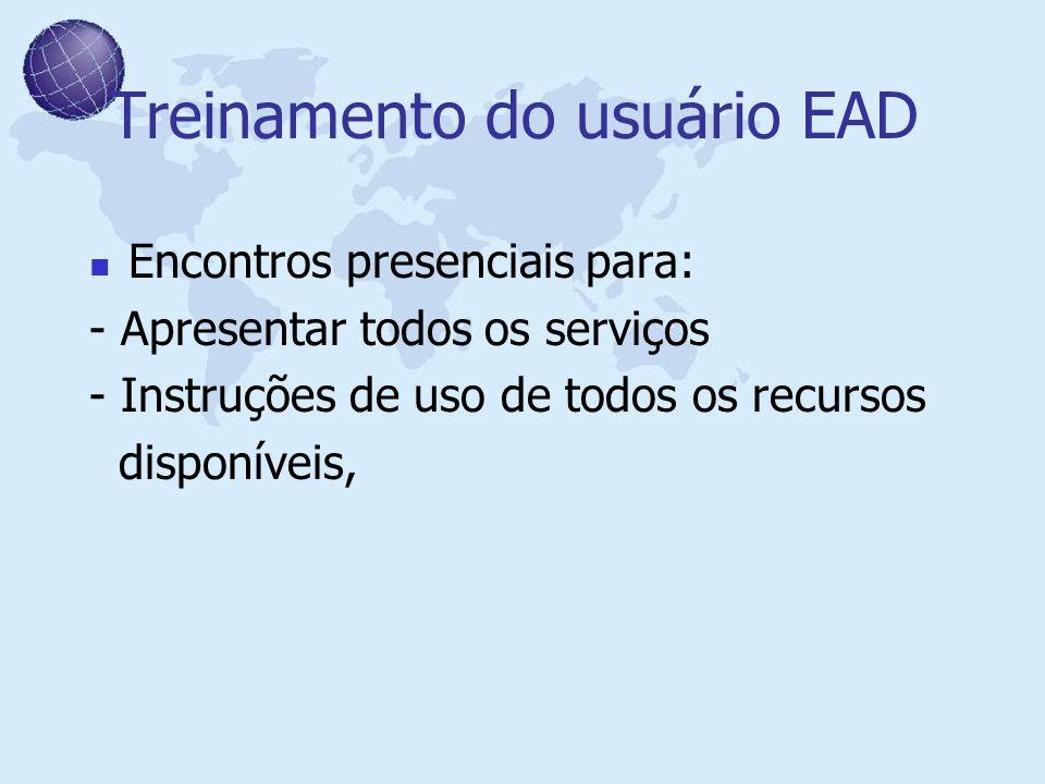 Treinamento do usuário EAD