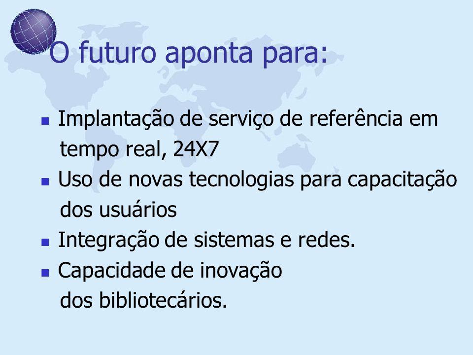 O futuro aponta para: Implantação de serviço de referência em