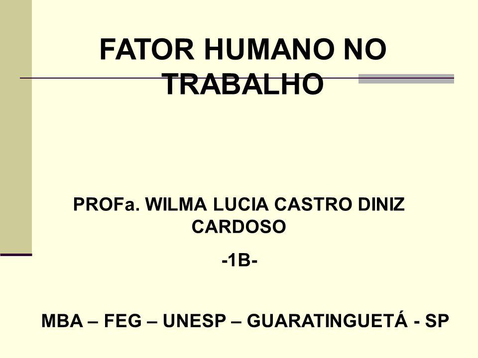 FATOR HUMANO NO TRABALHO