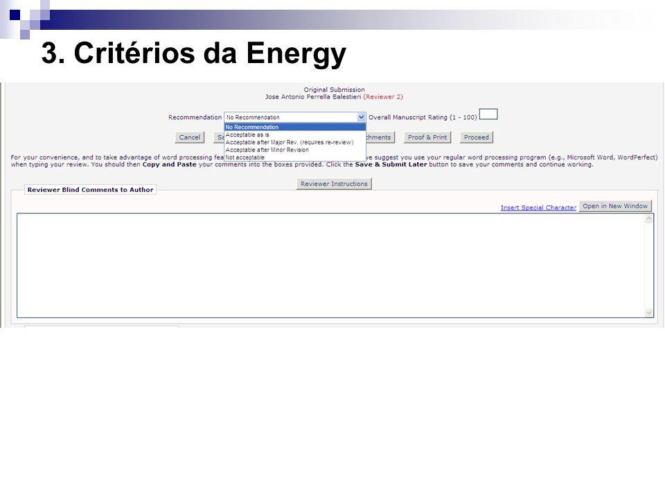 3. Critérios da Energy 20