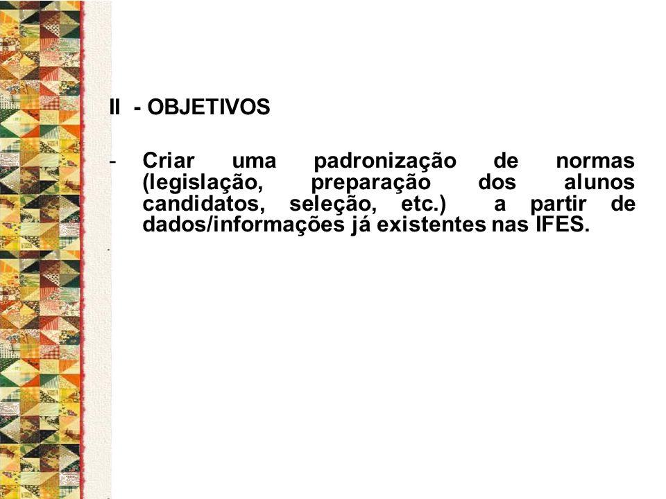 II - OBJETIVOS