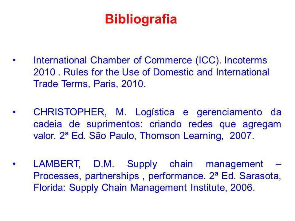 Bibliografia International Chamber of Commerce (ICC). Incoterms 2010 . Rules for the Use of Domestic and International Trade Terms, Paris, 2010.