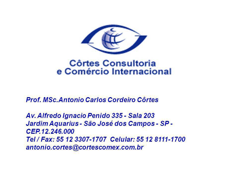 Prof. MSc.Antonio Carlos Cordeiro Côrtes