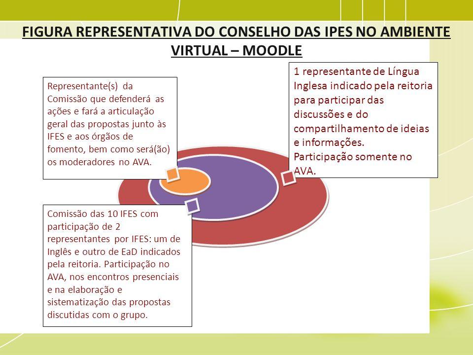 FIGURA REPRESENTATIVA DO CONSELHO DAS IPES NO AMBIENTE VIRTUAL – MOODLE