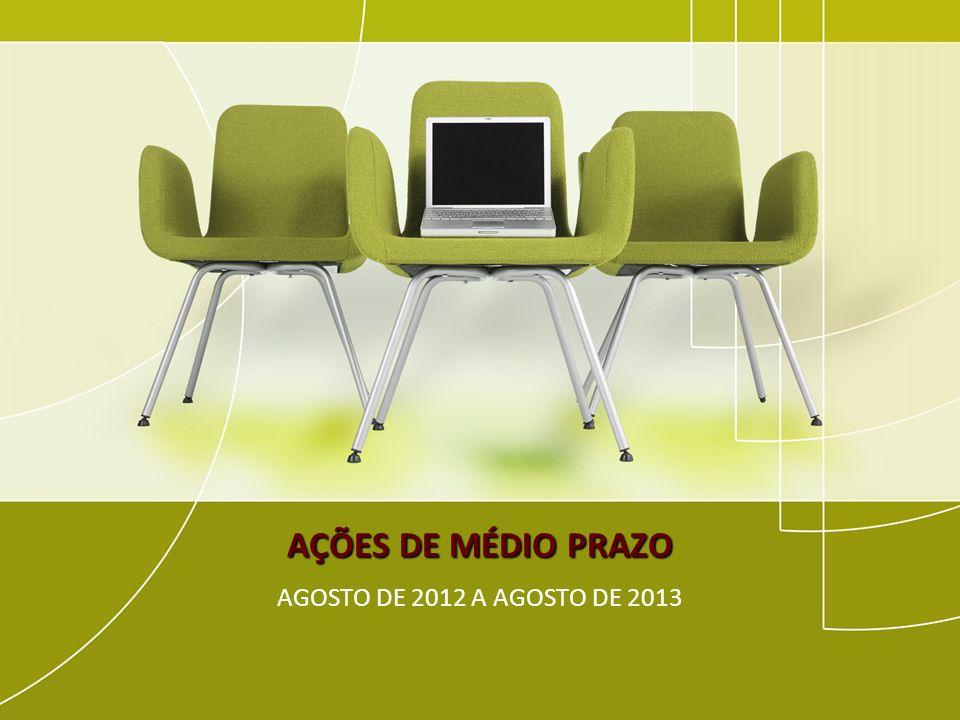 AÇÕES DE MÉDIO PRAZO AGOSTO DE 2012 A AGOSTO DE 2013