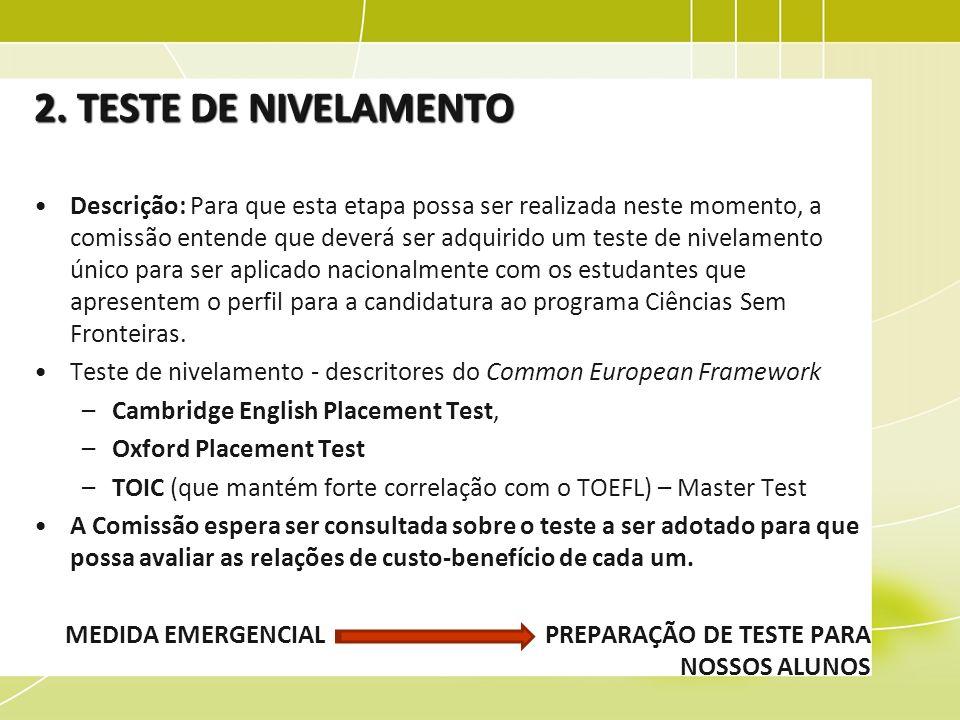 2. TESTE DE NIVELAMENTO