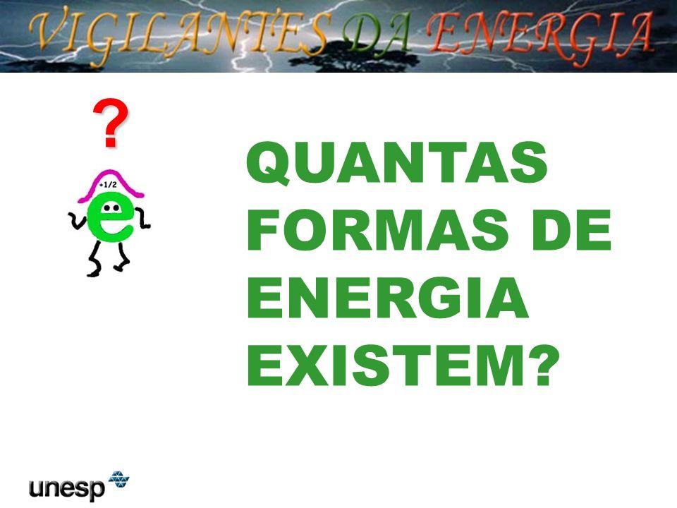 QUANTAS FORMAS DE ENERGIA EXISTEM
