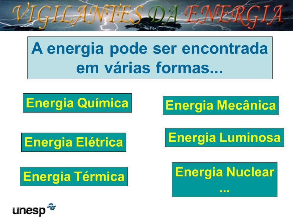 A energia pode ser encontrada