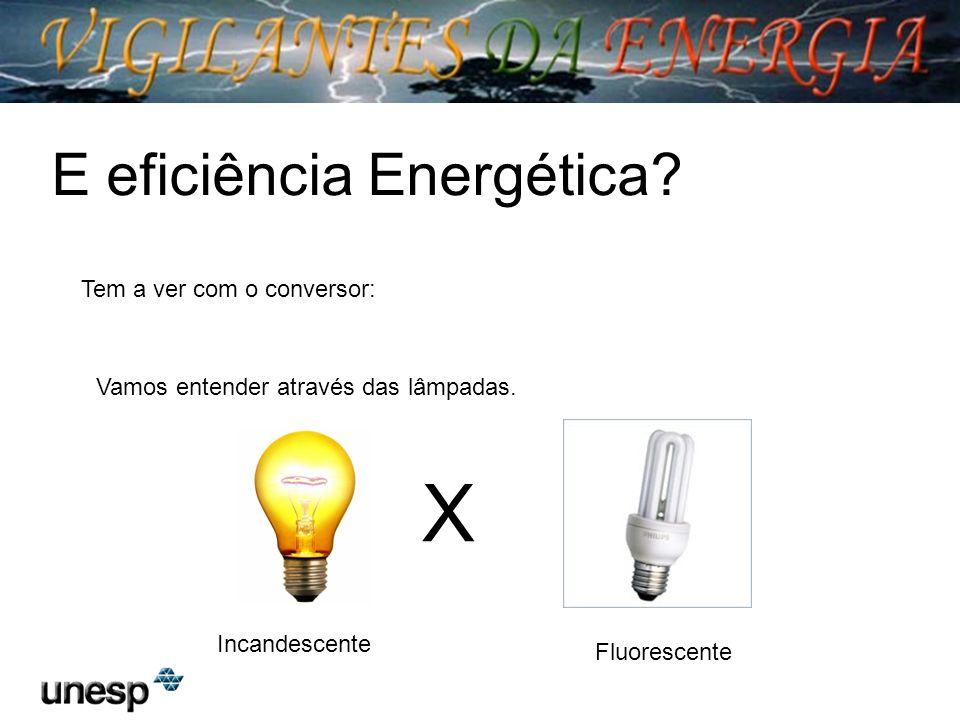 X E eficiência Energética Tem a ver com o conversor: