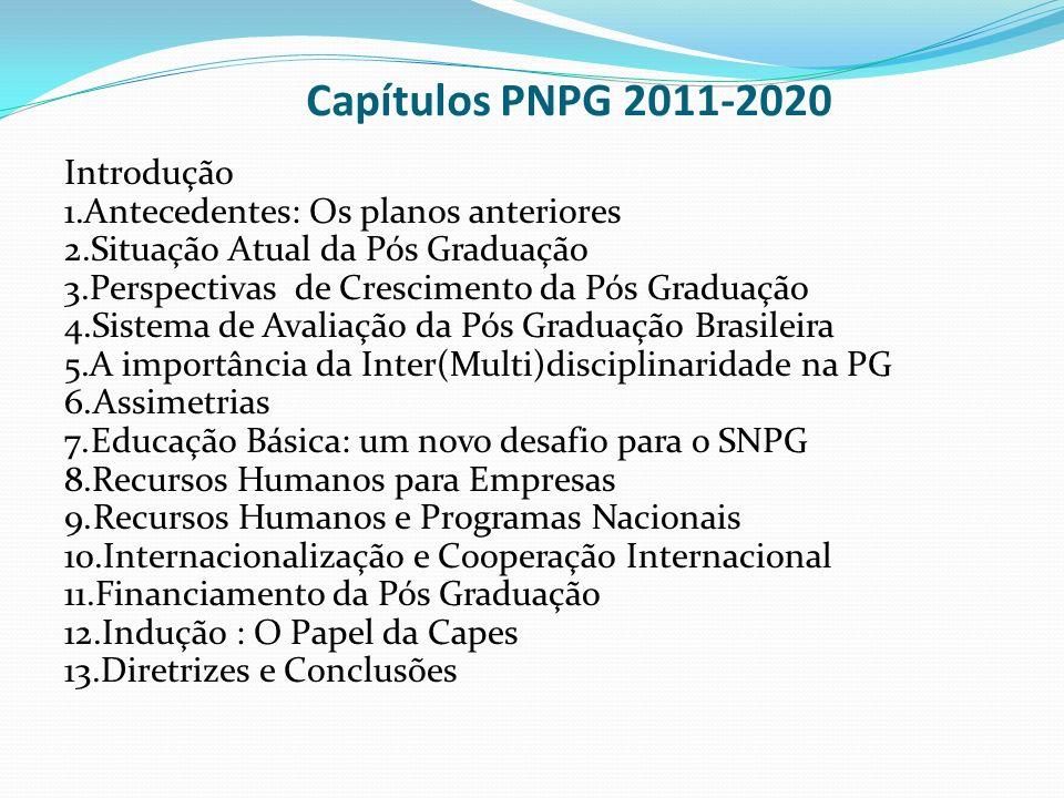 Capítulos PNPG 2011-2020 Introdução Antecedentes: Os planos anteriores