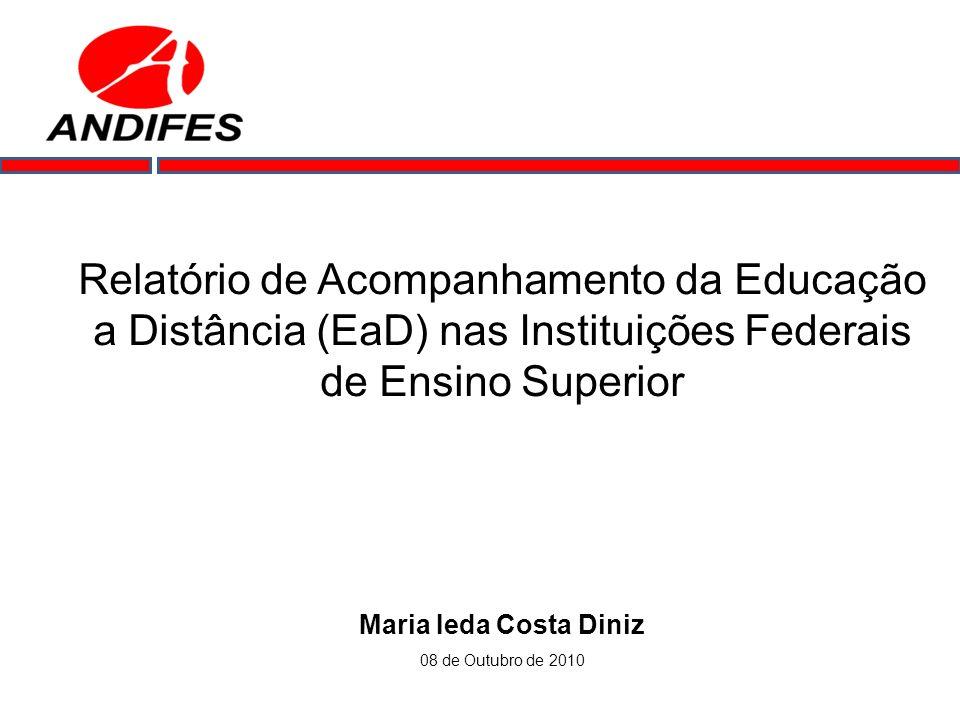 Relatório de Acompanhamento da Educação a Distância (EaD) nas Instituições Federais de Ensino Superior