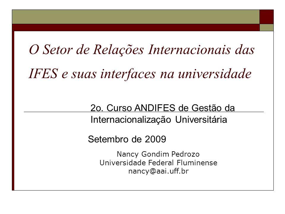2o. Curso ANDIFES de Gestão da Internacionalização Universitária