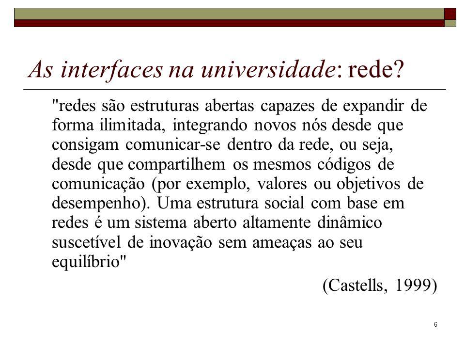 As interfaces na universidade: rede