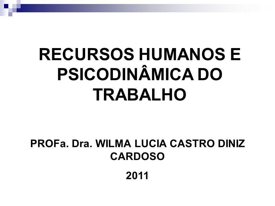 RECURSOS HUMANOS E PSICODINÂMICA DO TRABALHO