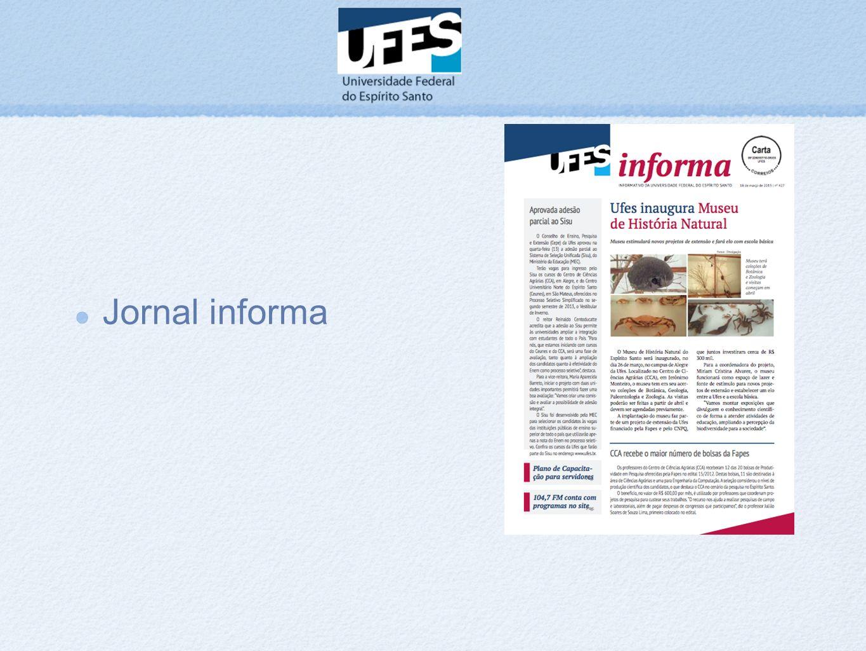 Jornal informa