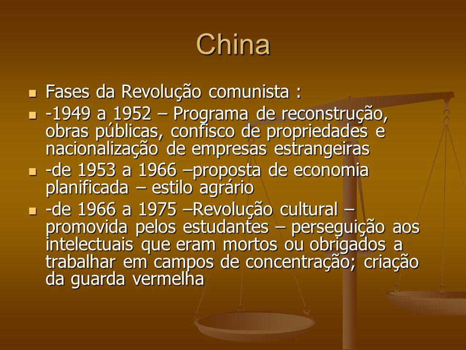 China Fases da Revolução comunista :