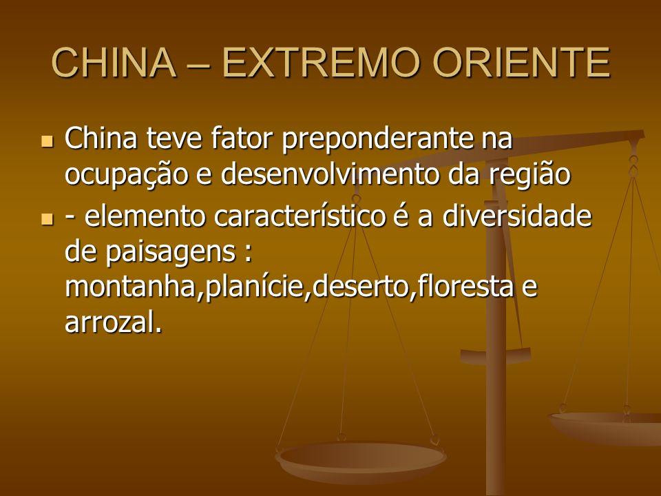 CHINA – EXTREMO ORIENTE