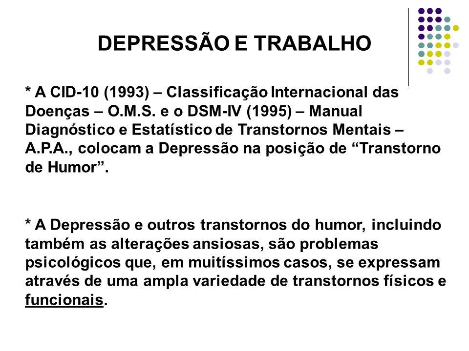 DEPRESSÃO E TRABALHO