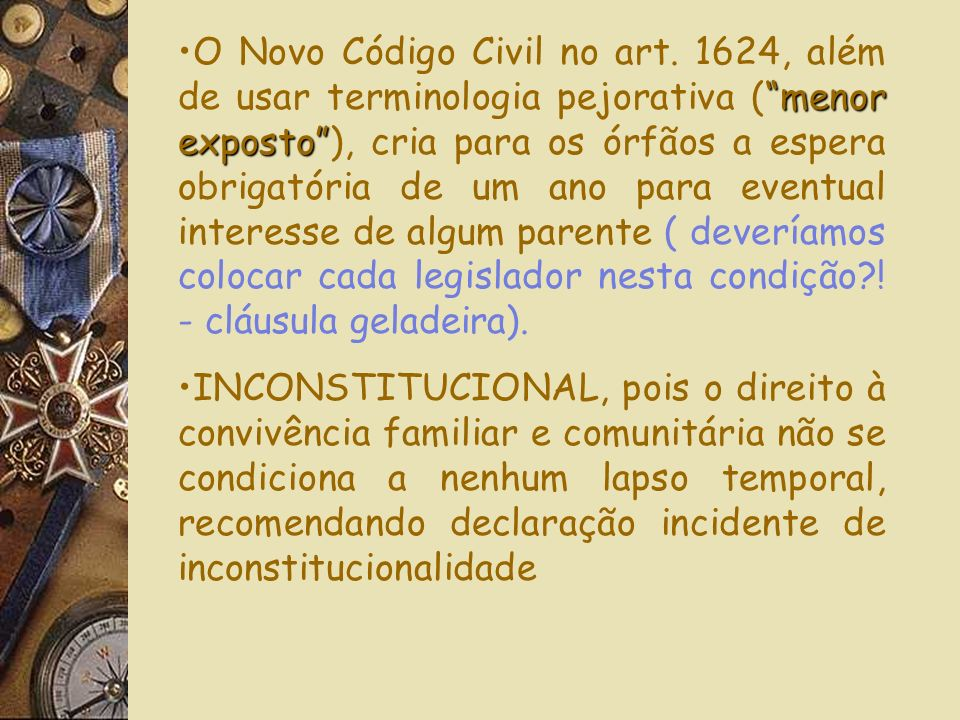 O Novo Código Civil no art