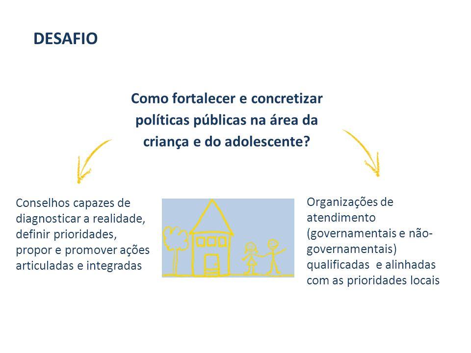 Desafio Como fortalecer e concretizar políticas públicas na área da criança e do adolescente