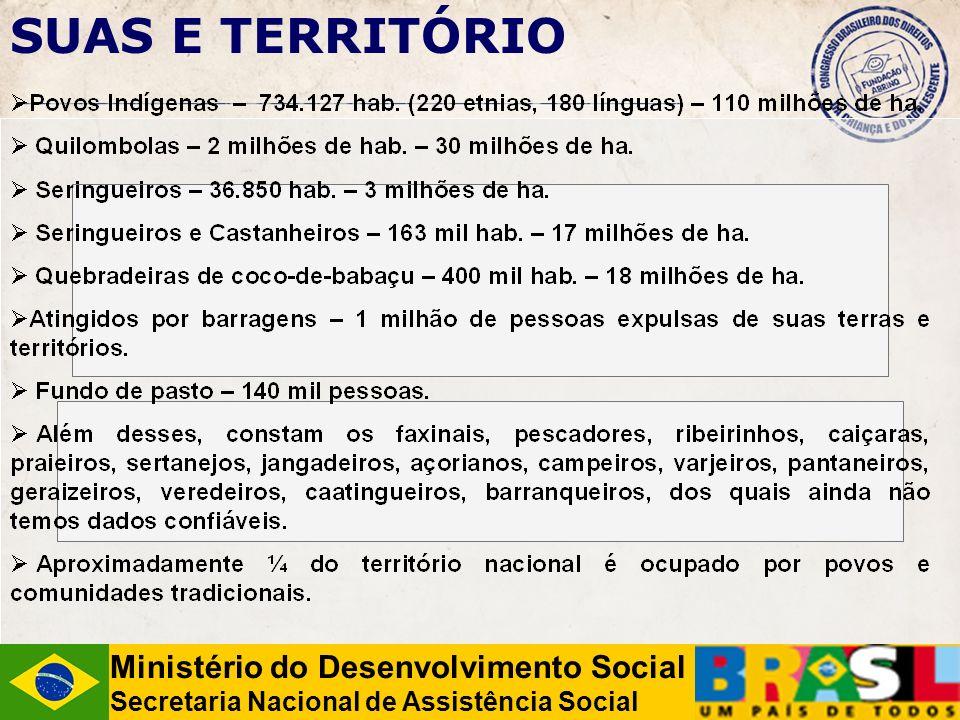 SUAS E TERRITÓRIO Ministério do Desenvolvimento Social