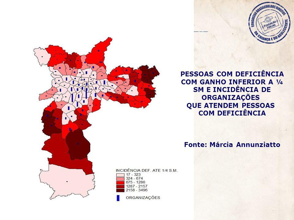PESSOAS COM DEFICIÊNCIA Fonte: Márcia Annunziatto