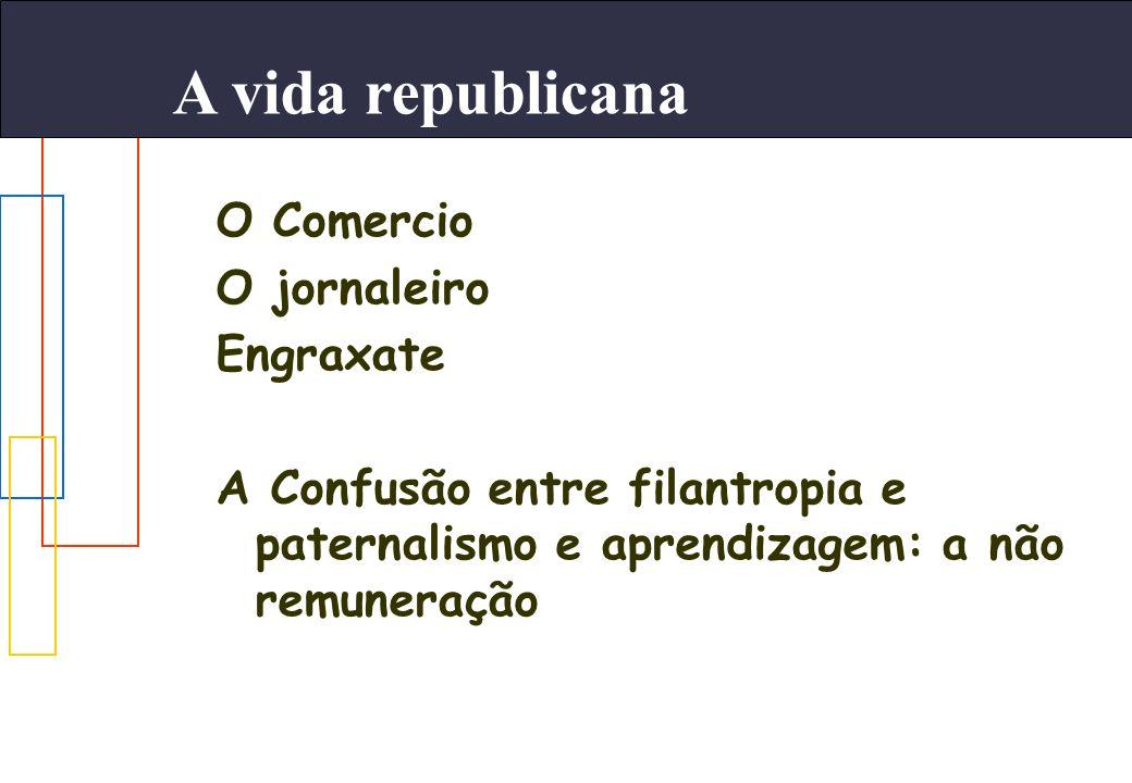 A vida republicana O Comercio O jornaleiro Engraxate