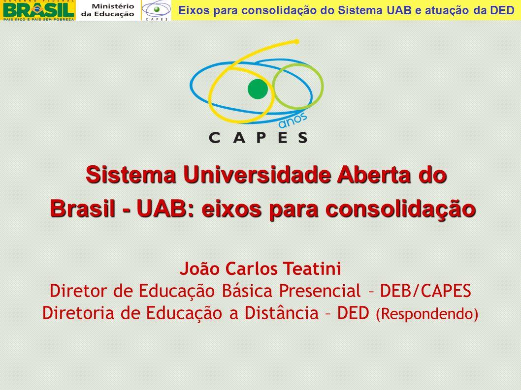 Sistema Universidade Aberta do Brasil - UAB: eixos para consolidação