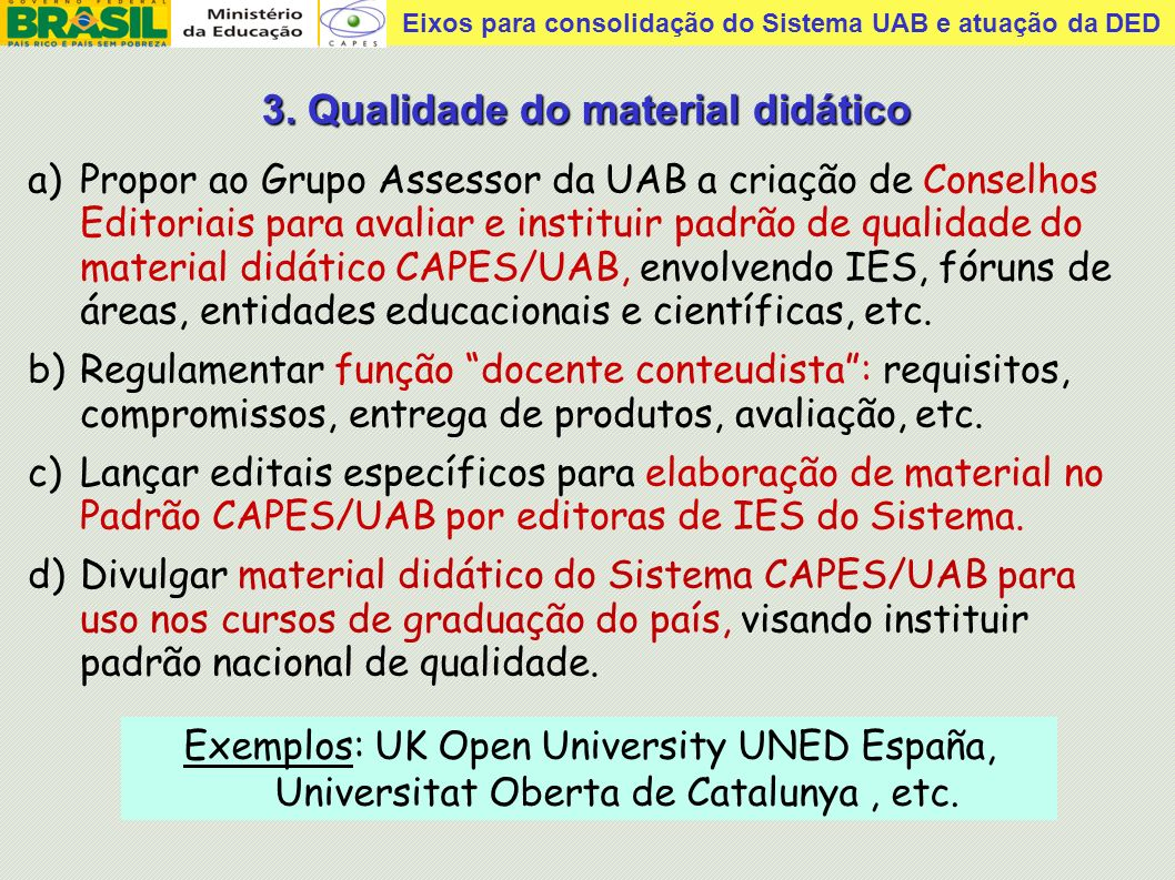 3. Qualidade do material didático