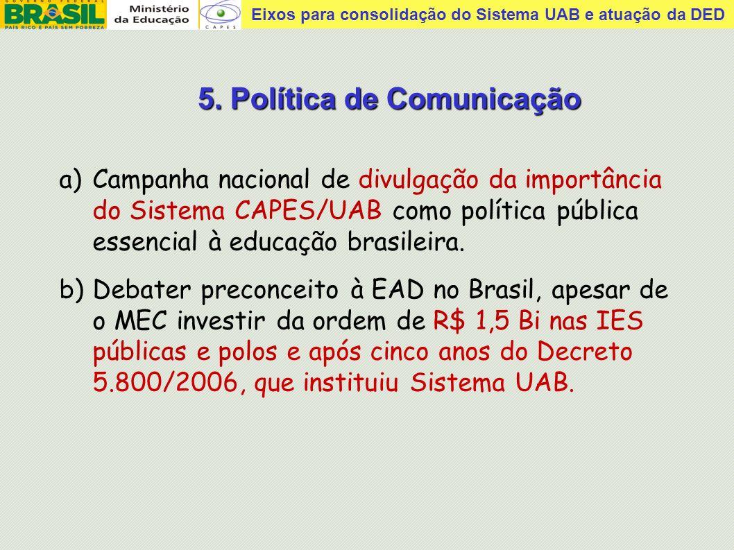 5. Política de Comunicação