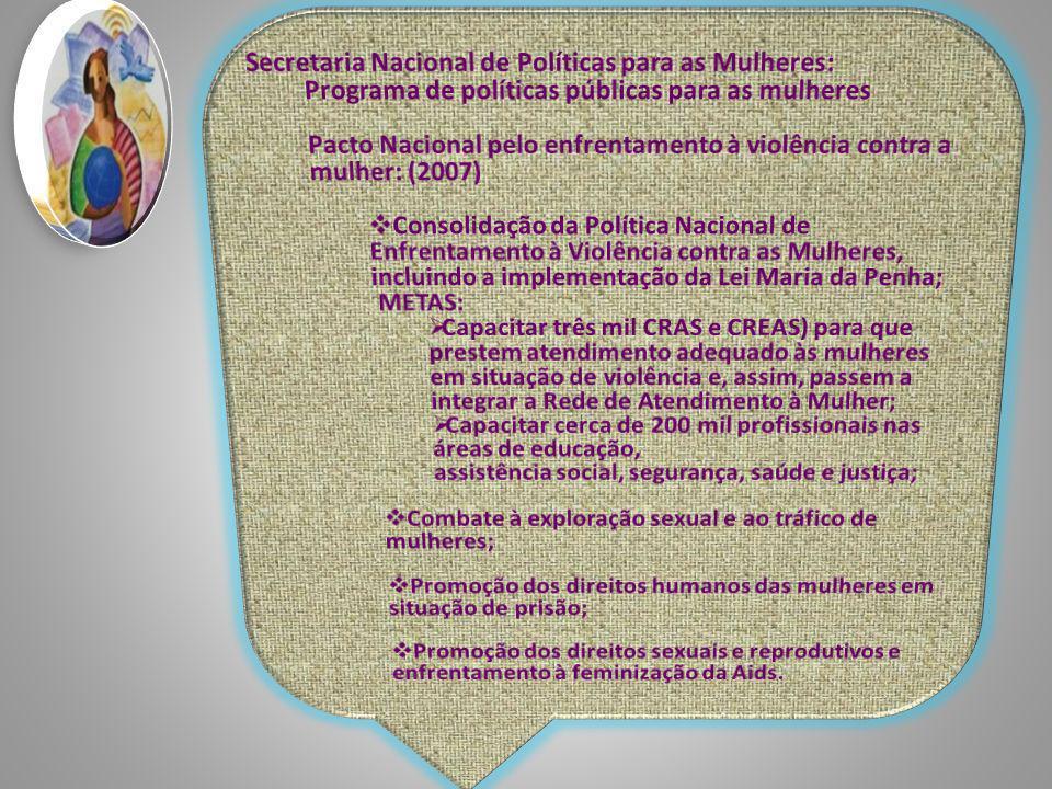 Secretaria Nacional de Políticas para as Mulheres: