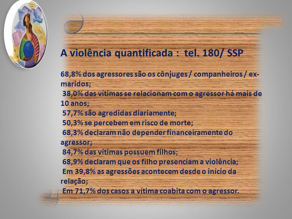 A violência quantificada : tel. 180/ SSP