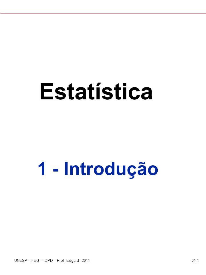 Estatística 1 - Introdução