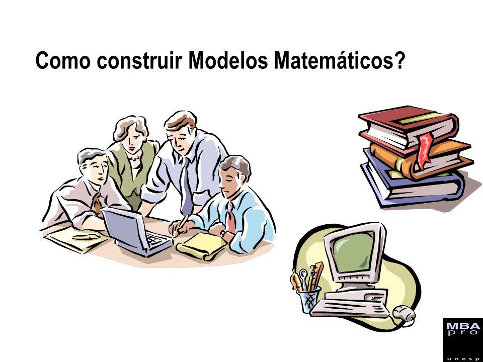 Como construir Modelos Matemáticos