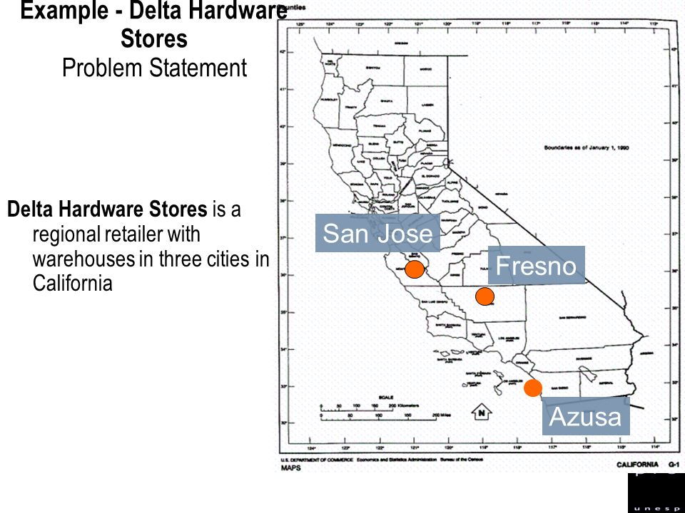 Example - Delta Hardware Stores Problem Statement