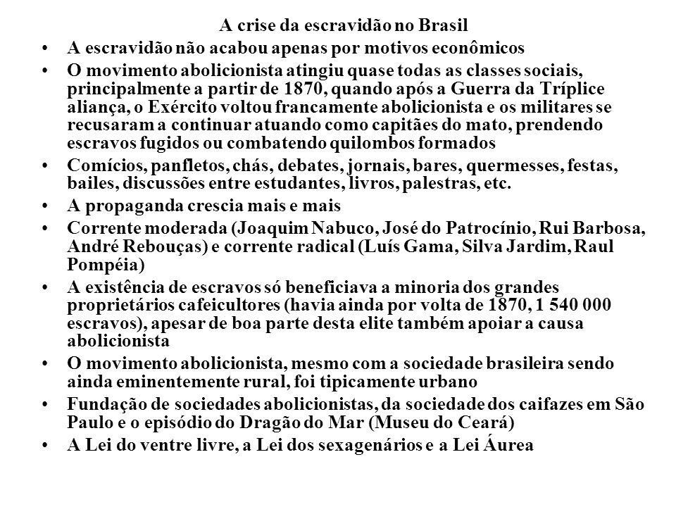 A crise da escravidão no Brasil